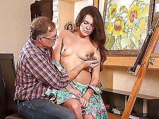 Sintia fucks her ugly old art teacher
